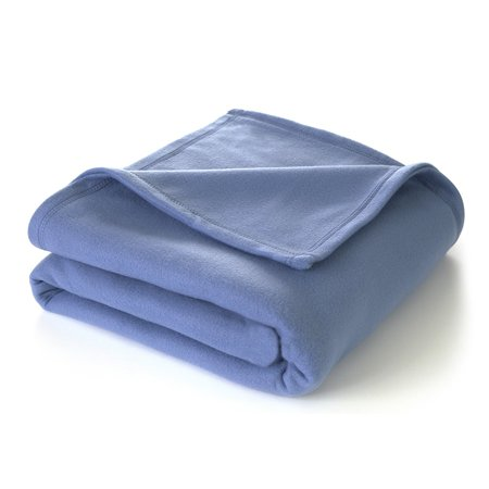 - Martex Super Soft Fleece Blanket - Full/Queen, Warm, Lightweight, Pet-Friendly, Throw for Home Bed, Sofa & Dorm - Slate Blue By WestPoint Home Ship from US