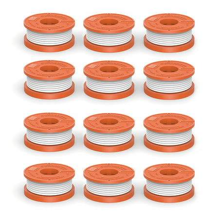 """Quickload 0.065"""" WA0010 Spool for WORX String Trimmers (Replacement Autofeed Spool), 12-Pack (compatible with WA0010)"""
