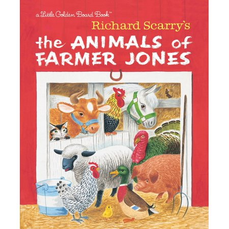 Richard Scarry's the Animals of Farmer Jones (Board Book) - Halloween Farmer In The Dell