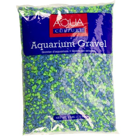 Aquaculture aqua culture aquarium gravel neon summe for Walmart fish gravel