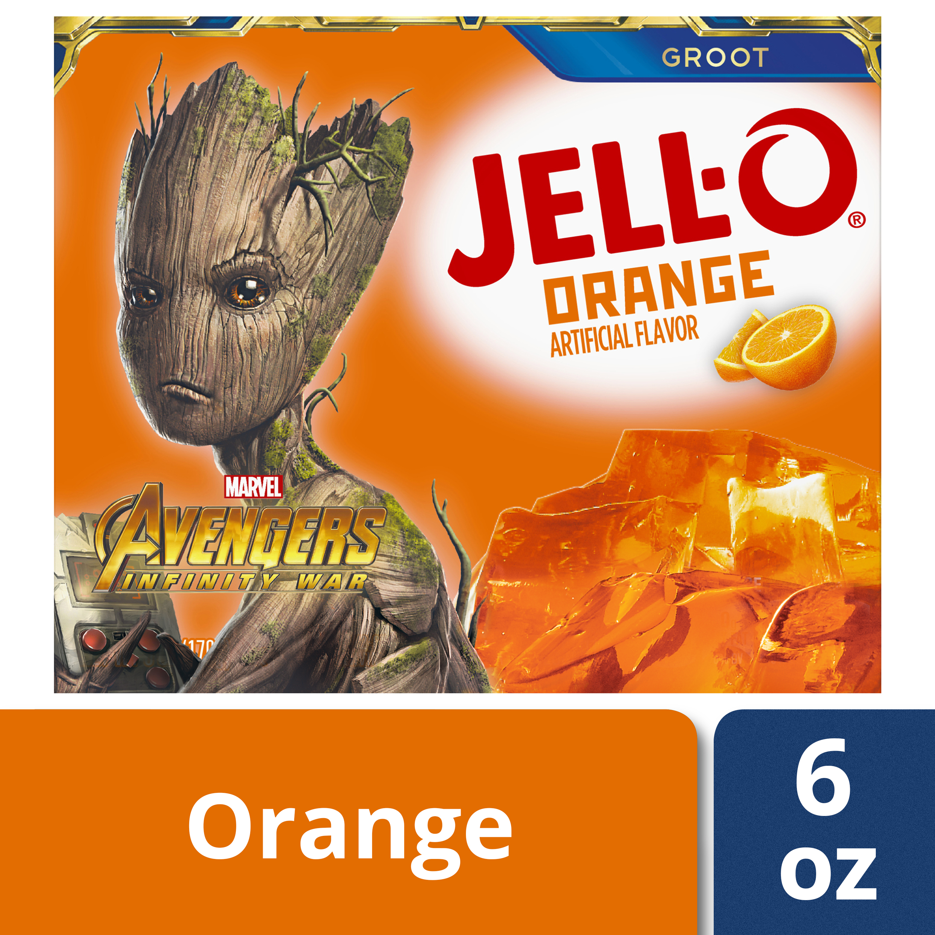 (3 Pack) Jell-O Orange Gelatin, 6 oz Box