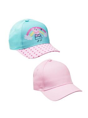 Girl's Peppa Pig Baseball Cap 2-pack