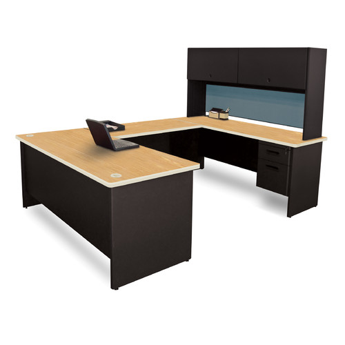 Marvel Office Furniture Pronto Computer Desk with Hutch