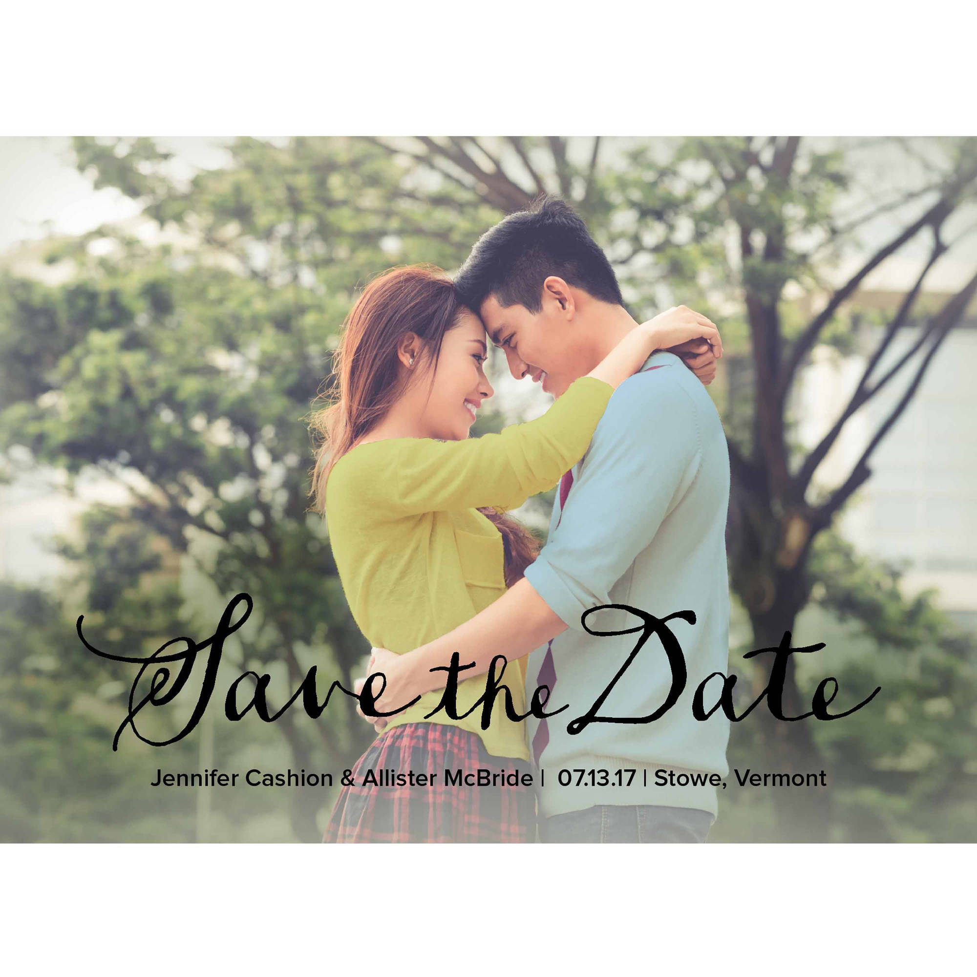 Handwritten Note Standard Save The Date