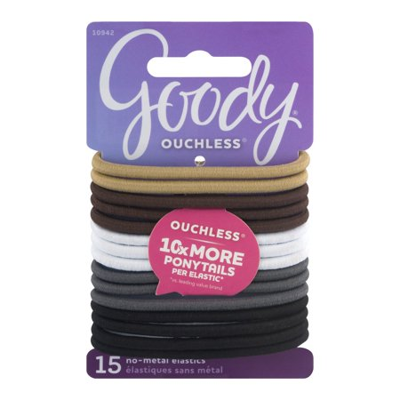 (2 Pack) Goody Ouchless No Metal Hair Elastics 5b2913795e1