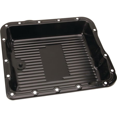 Black Steel GM 700R4-4L60E-4L65E Transmission Pan, 2-5/8 Inch Deep