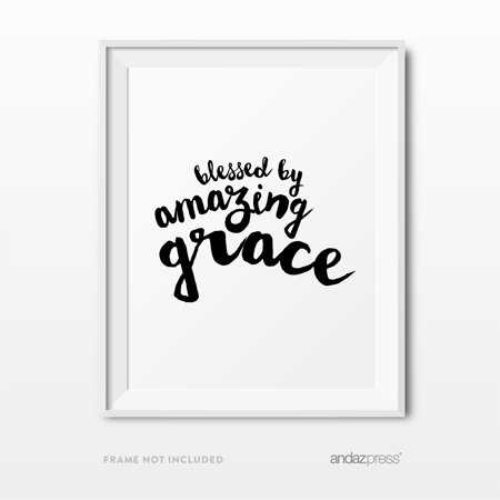 Blessed by Amazing Grace Bible Verses Religious Wall Art, Modern ...
