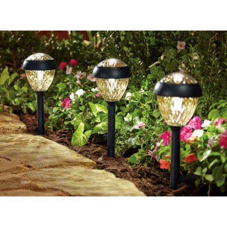 Better homes and gardens 6 piece park view solar powered Better homes and gardens landscape lighting