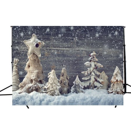 EREHome Polyester Fabric 7x5ft Merry Christmas Theme Backdrops, Photography Background Photo Studio Photograph Props Best for Christmas Decoration or Children, Newborn, Baby - image 1 de 2