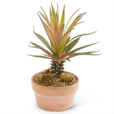 Mini Pale (K&K Interiors 12352D Faux Greenery, Red Mini Palm Tree, 7.5-In. )