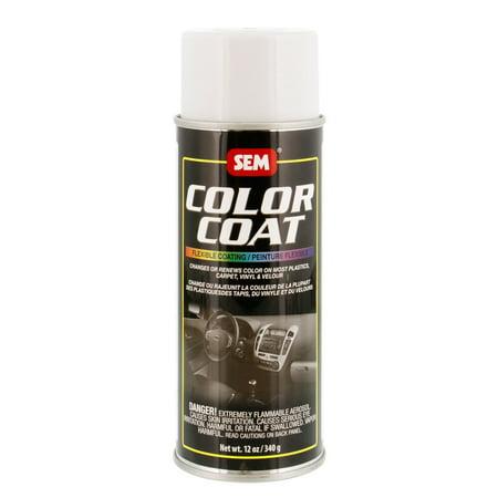 - SEM COLOR COAT SUPER WHITE Vinyl Spray Auto Paint 12 oz. SEM 15103