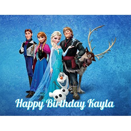 1/4 Sheet Frozen Group Characters Edible Frosting Cake Topper- 78325* (Cake Toppers Frozen)
