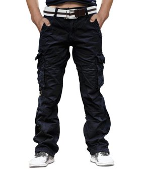 Men's Cotton Casual Camping Hiking Twill Cargo Army Combat Pant Military Trouser