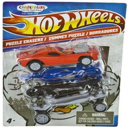 Hot Wheels X Crazerasers Collectible Puzzle Erasers Series 1