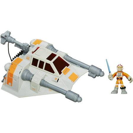Playskool Heroes Star Wars Galactic Heroes Jedi Force Snowspeeder Vehicle with Luke Skywalker Figure