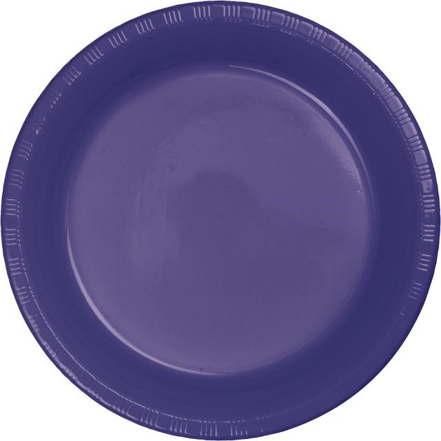 """Touch of Color Plastic Banquet Plate, 10"""", Purple, 20 Ct"""