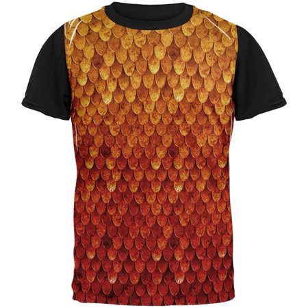 Chris Rock Top Five Halloween (Halloween Red Fire Dragon Rider Armor All Over Mens Black Back T)