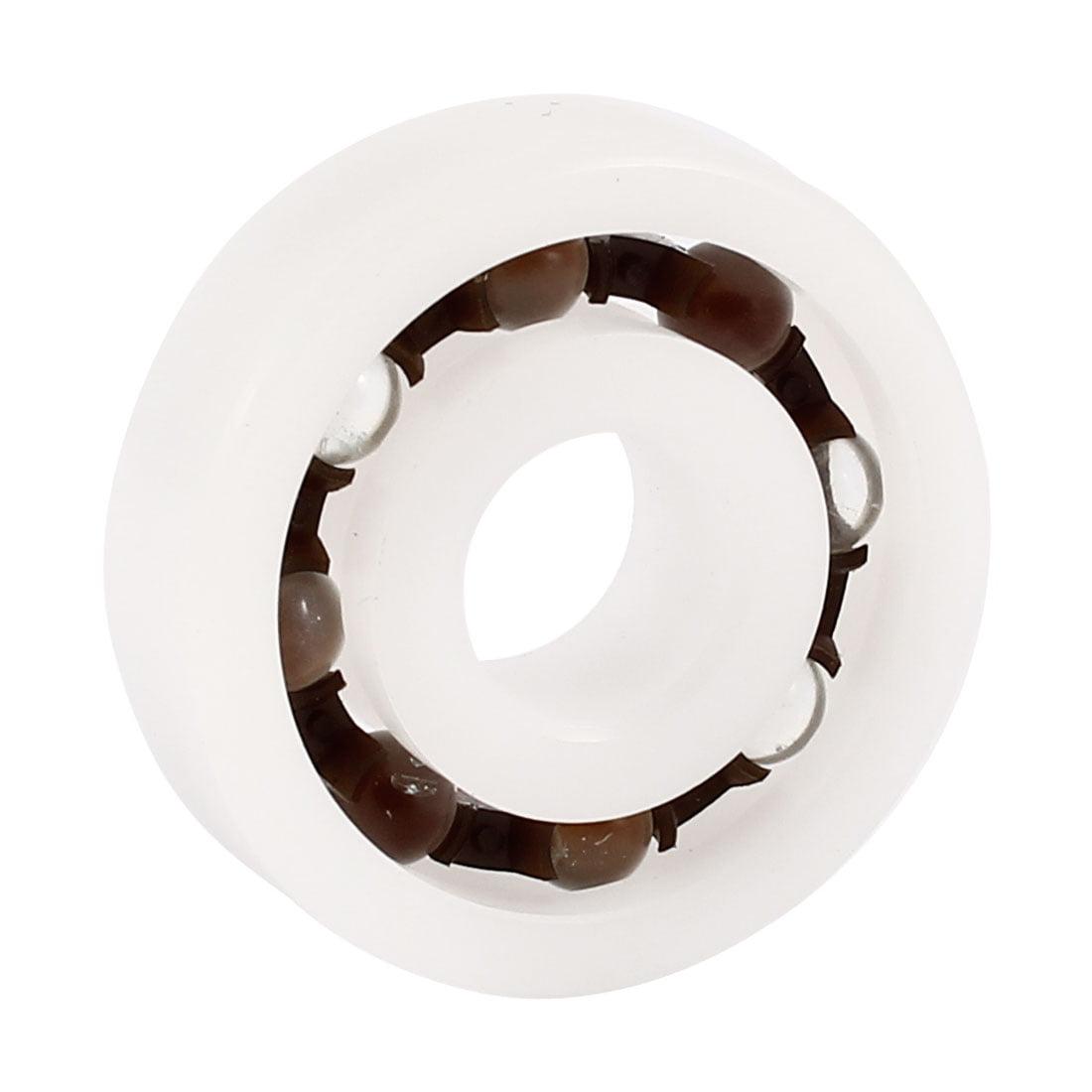 POM blanc plastique Verre Roulement à billes radiaux à gorge profonde 6200 10x30x9mm - image 1 de 1