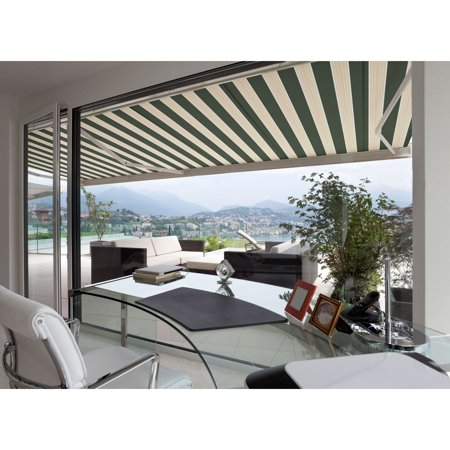 Image of 12FT L SERIES SEMI-CASSETTE ELECTRIC RETRACTABLE AWNING 10FT