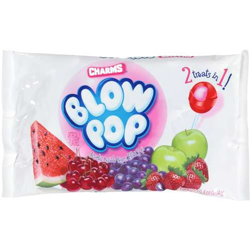 Blow Pop Bubble Gum Filled Pops, 10.4 oz
