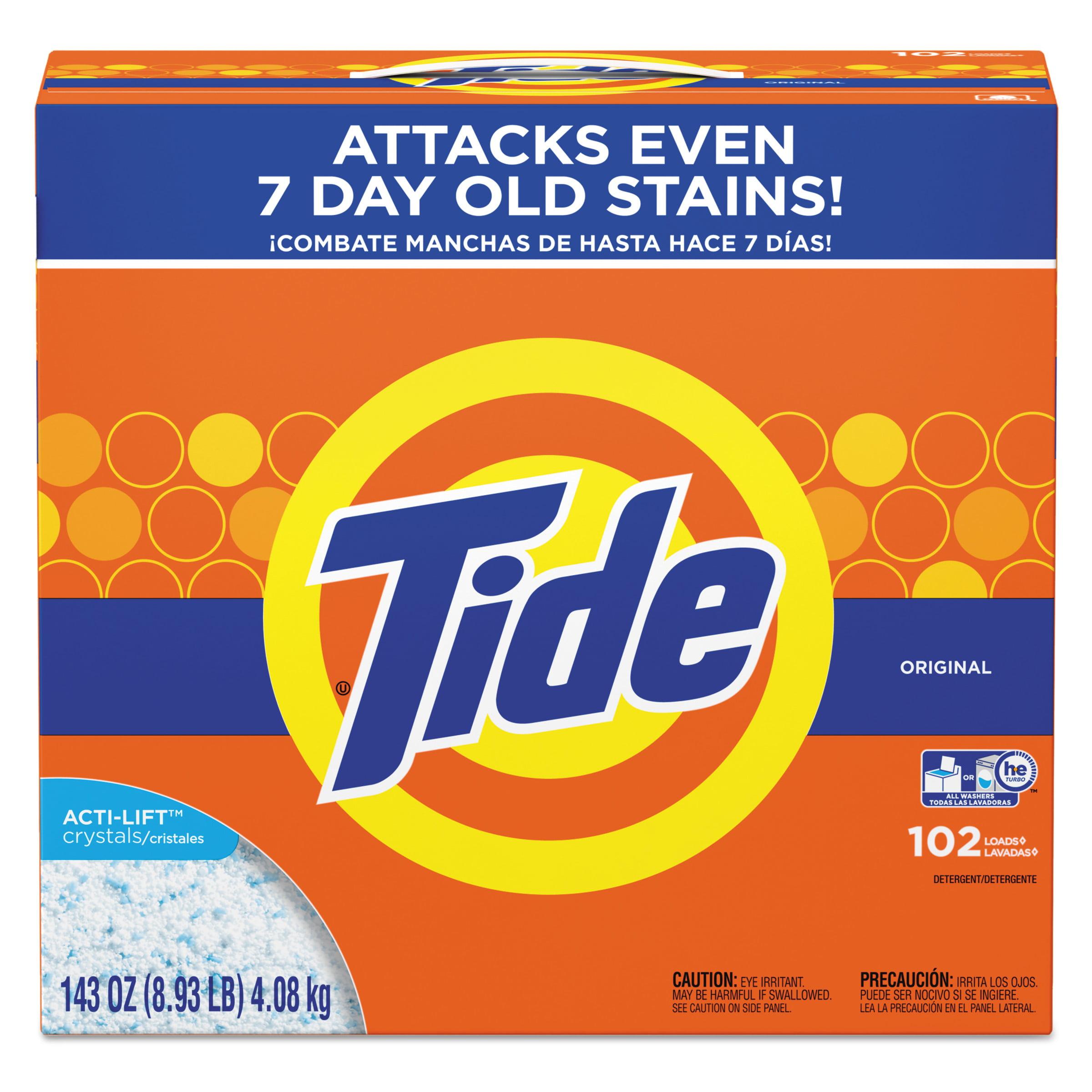 Tide Original HE Turbo Powder Laundry Detergent, 102 Loads, 143 Oz
