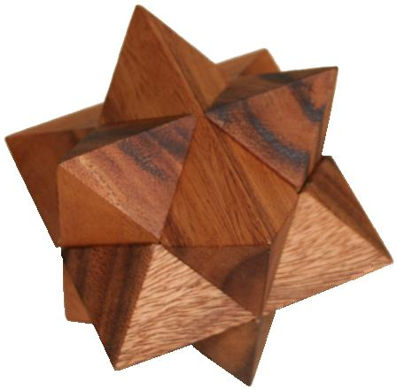 Star - Wooden Brain Teaser Puzzle - Brain Teasers Riddles For Kids