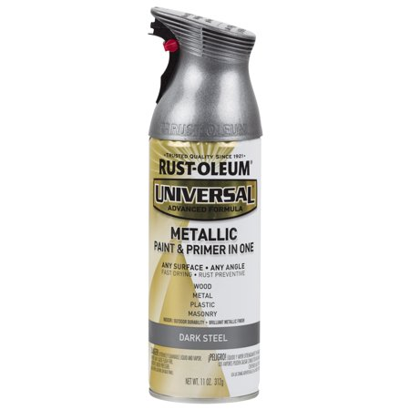 Rust-Oleum Universal Metallic Dark Steel Spray Paint and Primer in 1, 11 (Best Paint For Steel)