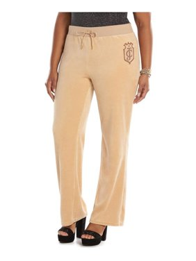 Juicy Couture Womens Velour Graphic Bootleg Athletic Sweatpants
