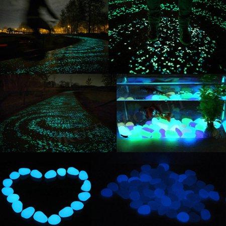 Garden Pebbles Glow Stones Rocks for Walkways Garden PathLightBlue30pcs - image 2 de 10