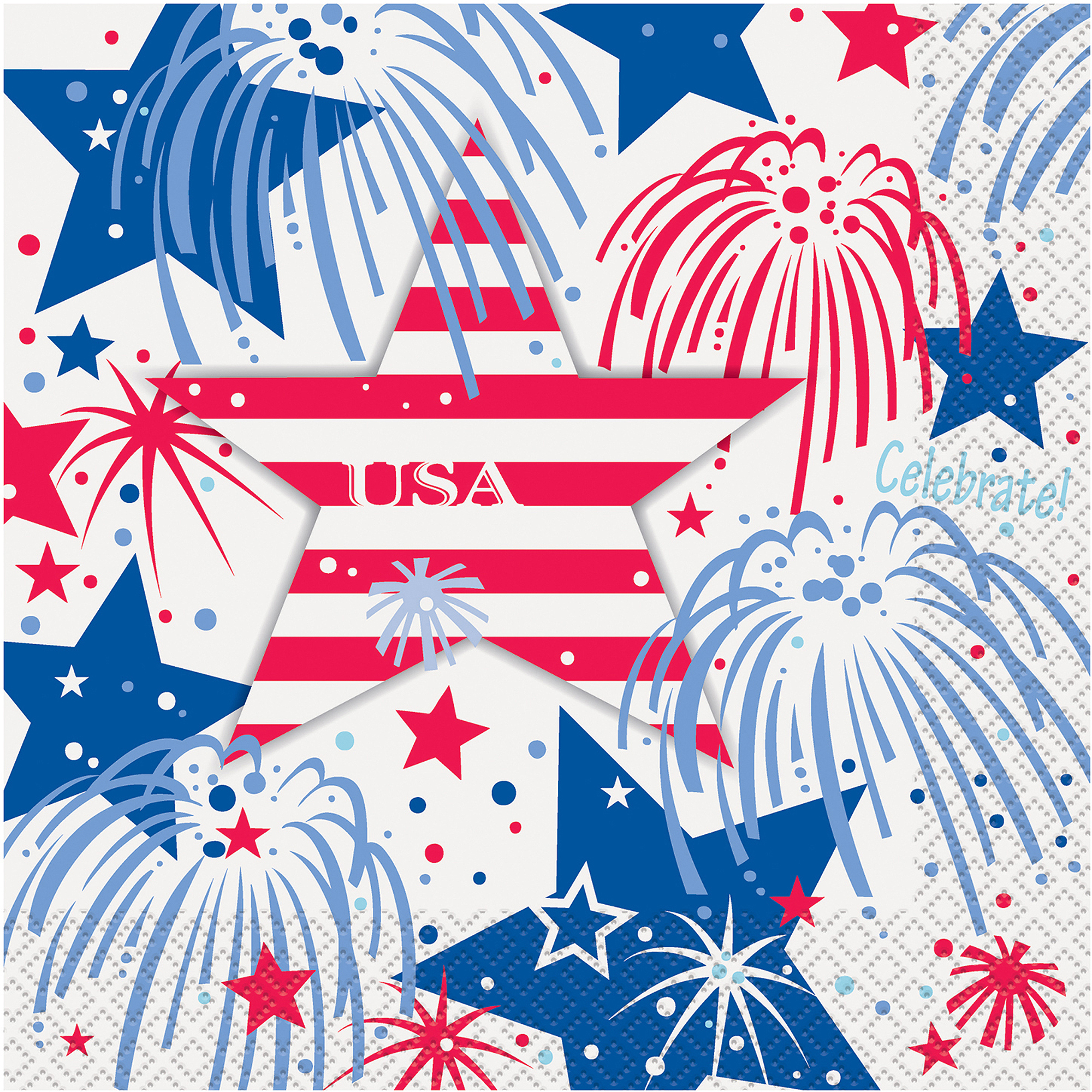 Patriotic Party Lunch Napkins (16)