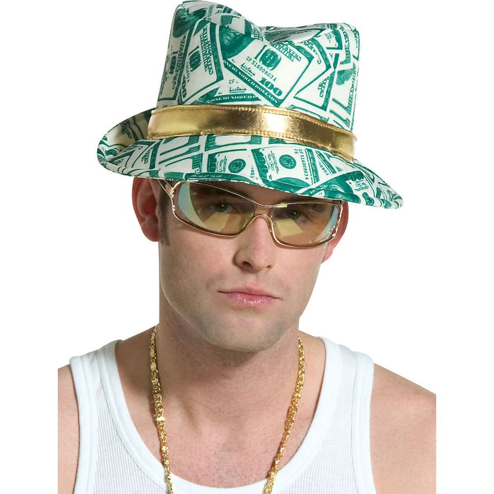 Money Print Fedora Hat