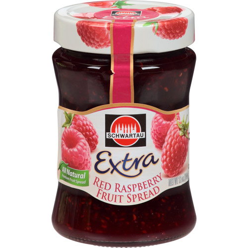 Schwartau Extra Red Raspberry Fruit Spread, 12 oz, (Pack of 10)