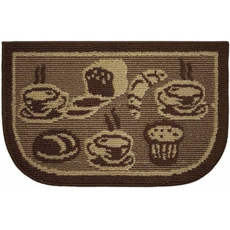 Structures Textured Loop 18 X 30 Wedge Shaped Kitchen Slice Rug