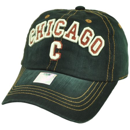 Chicago Chi Town Windy City Illinois Black Relaxed Hat Cap USA Sun Buckle Faded](Windy City Usa)