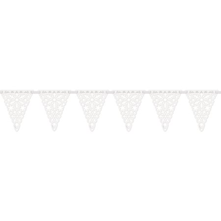 - 12' Die Cut Paper Snowflake Holiday Flag Banner