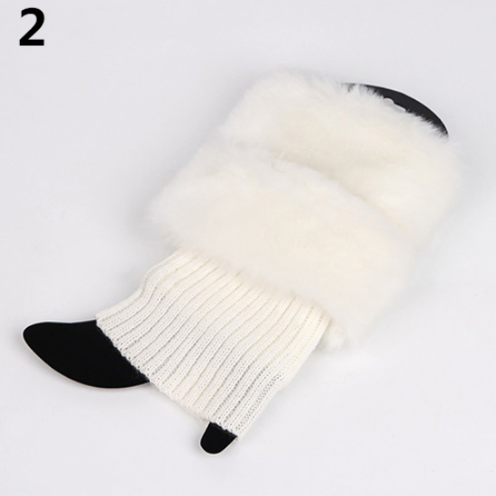 Girl One Size Baby Toddler Faux Fur Christmas Holiday Winter Styles Leg Warmers Boot Tops