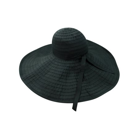 Black Flexible Floppy Hat With Oversized Brim - Walmart.com 6376c5b6b73