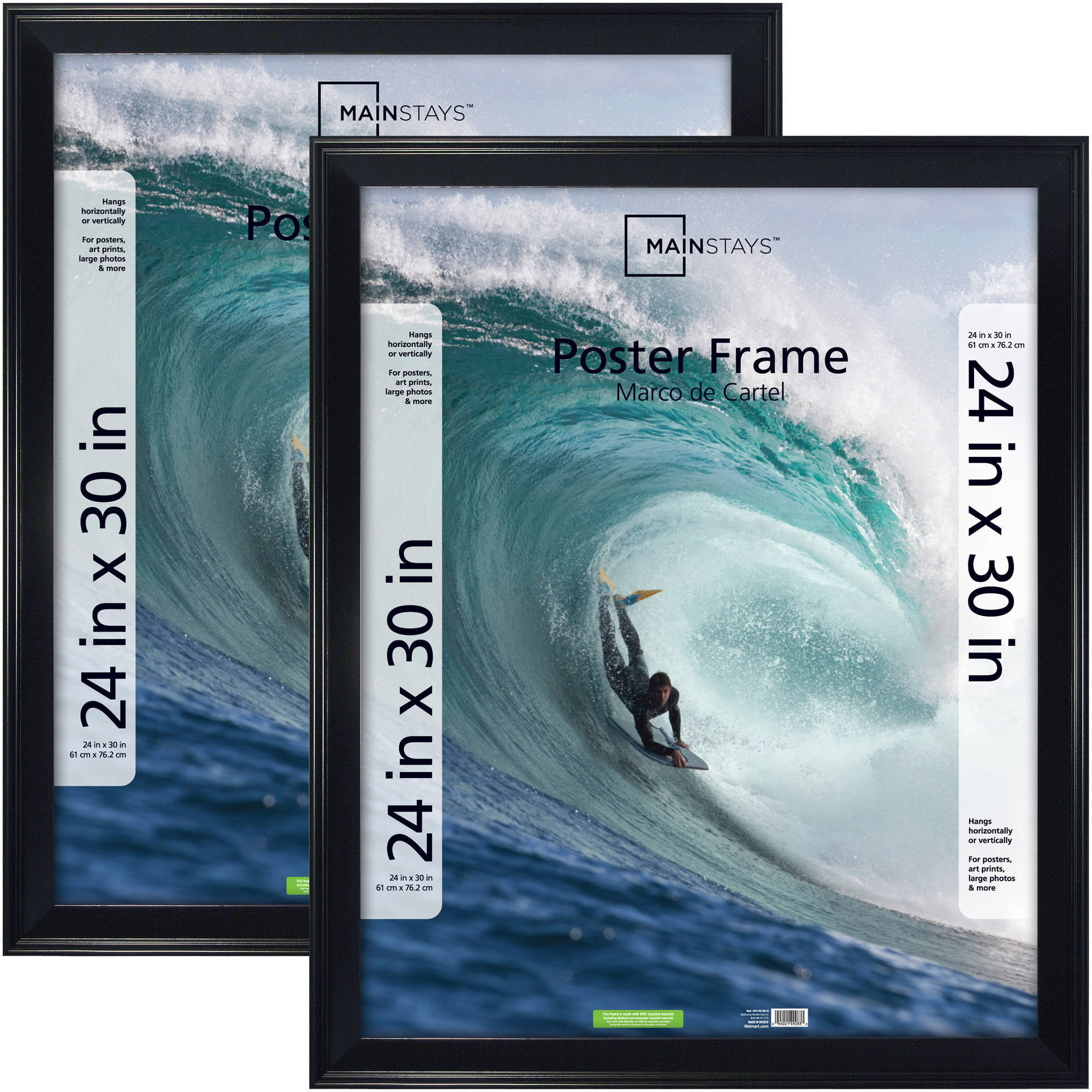 Mainstays 24x30 Casual Poster and Picture Frame, Black, Set of 2 ...