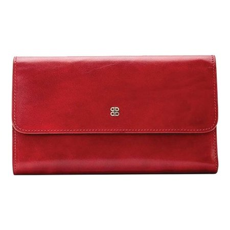 - women's bosca old leather large checkbook clutch