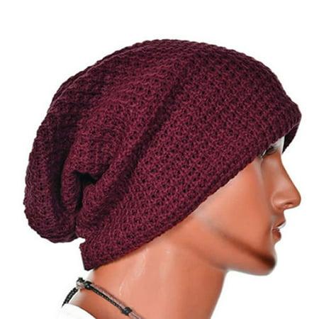 d08e7bc96eb Men Knitting Slouchy Beanie Cap Baggy Winter Hat Oversize Unisex Skateboard  Caps - Walmart.com