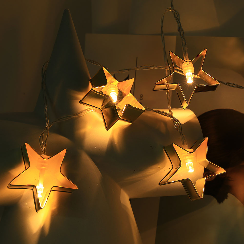 Christmas Star String Lights1.5M 10 LED New Year,Home Party New Year Decoration
