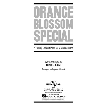 Hal Leonard Orange Blossom Special A Hillbilly Concert Piece for Violin And Piano By Rouse (Hillbilly Accessories)