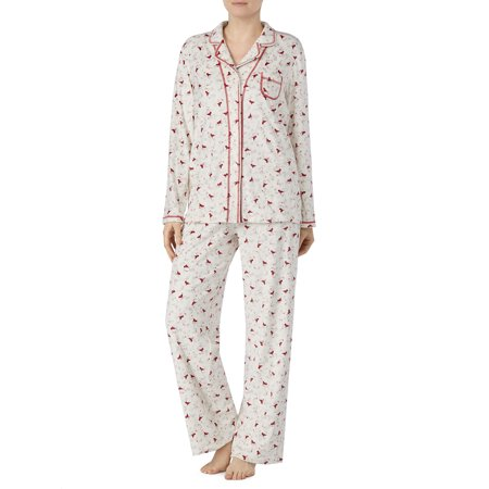 e3ed0ec67f8 Secret Treasures - Secret Treasures Women s and Women s Plus Traditional Pajama  Set - Walmart.com