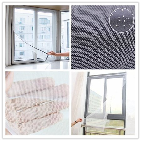 Removable Large Window Screen Mesh Net Insect Fly Bug Mosquito Moth Door Net 1Pcs - image 2 of 5