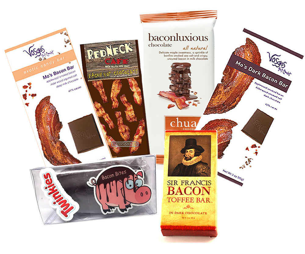 Extreme Bacon Chocolate Sampler Pack (6pc Set) Vosges Milk & Dark Chocolate Bacon Bars,... by