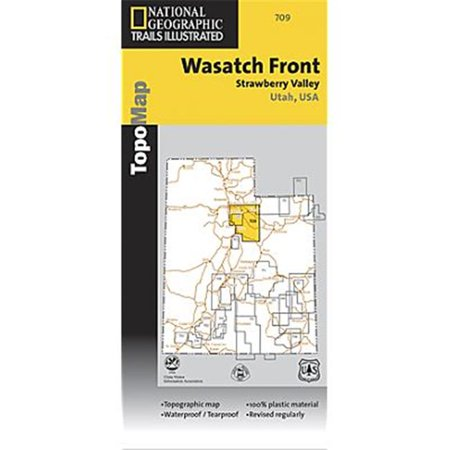 National Geographic TI00000709 Map Of Wasatch Front North Trail - (Utahs Wasatch Front)
