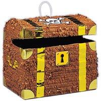 Pirate Treasure Chest Pinata, 12in x 10.5in