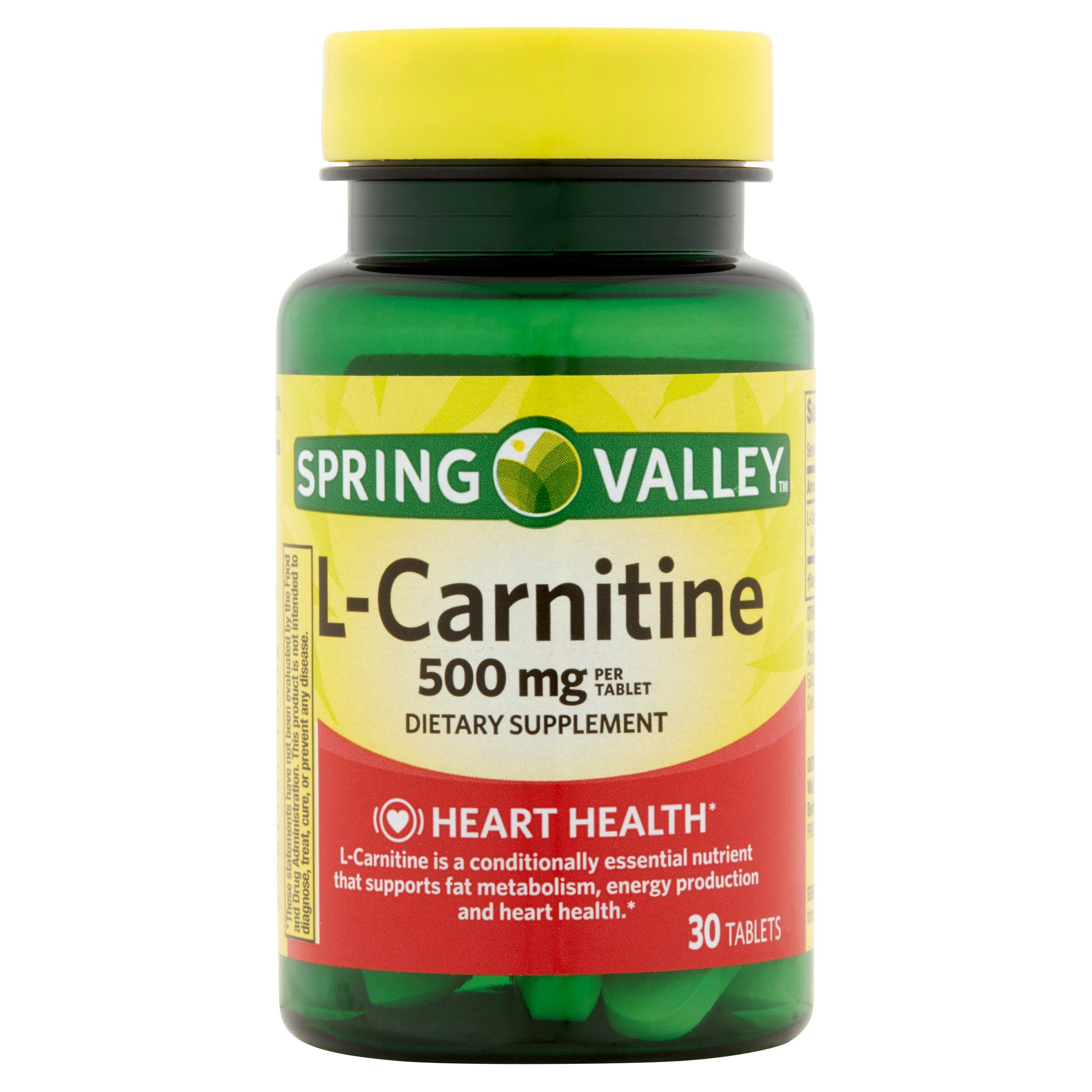 (2 Pack) Spring Valley L-Carnitine Capsules, 500 mg, 30 Ct