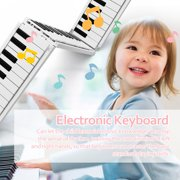 Carevas 88 K-eys Foldable Piano Digital Piano Portable Electronic Keyboard Piano for Piano Student Musical Instrument