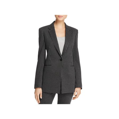 Pinstripe 2 Button Suit - Theory Womens Pinstripe Suit Separate One-Button Blazer